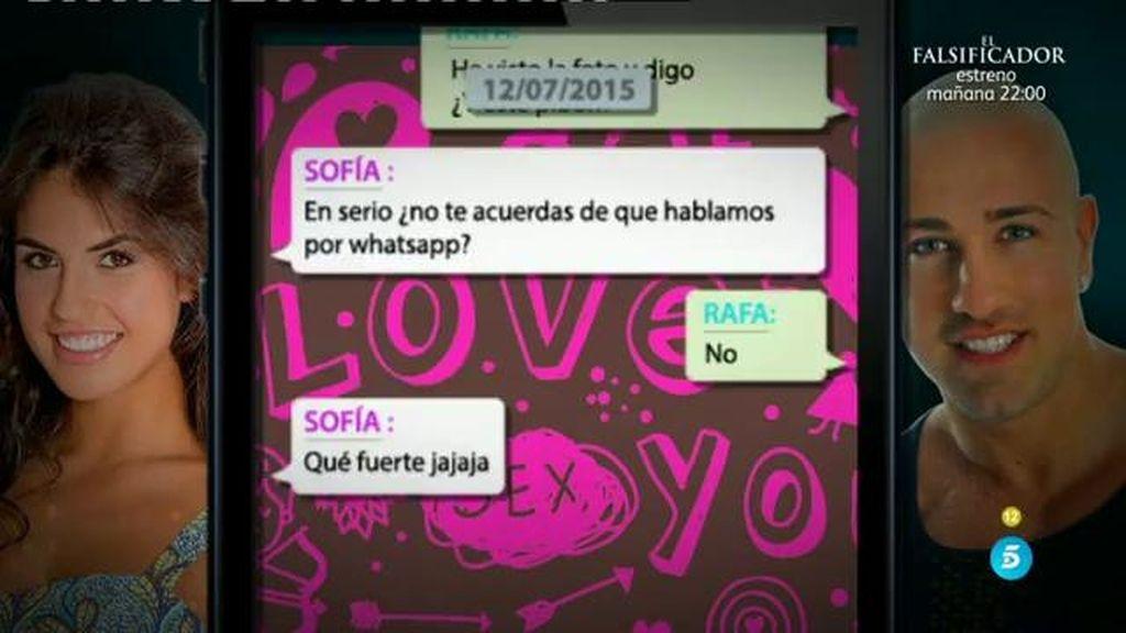 Los mensajes que Sofía de 'Gran Hermano 16' envió a Rafa Mora