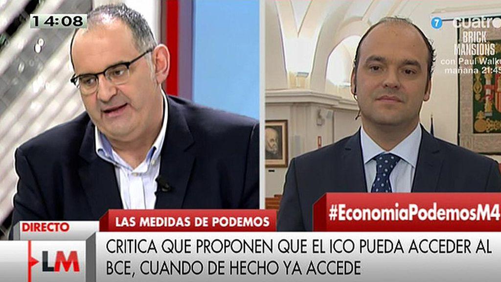 """J.C. Díez, sobre Podemos: """"Llevaba mucho tiempo sin ver una rueda de prensa tan surrealista"""""""