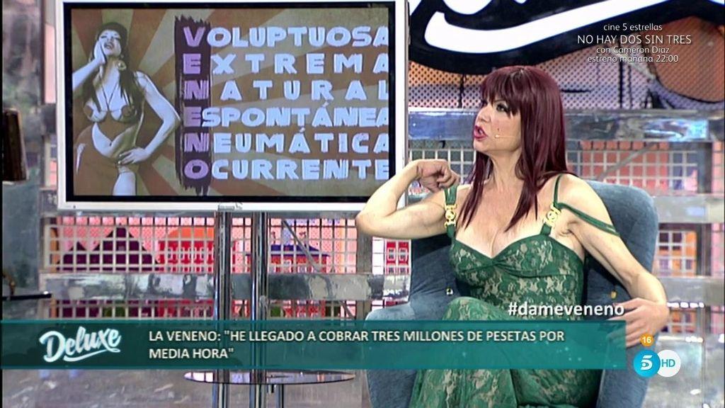 """Cristina, la Veneno: """"Llegué a cobrar tres millones de pesetas por media hora"""""""