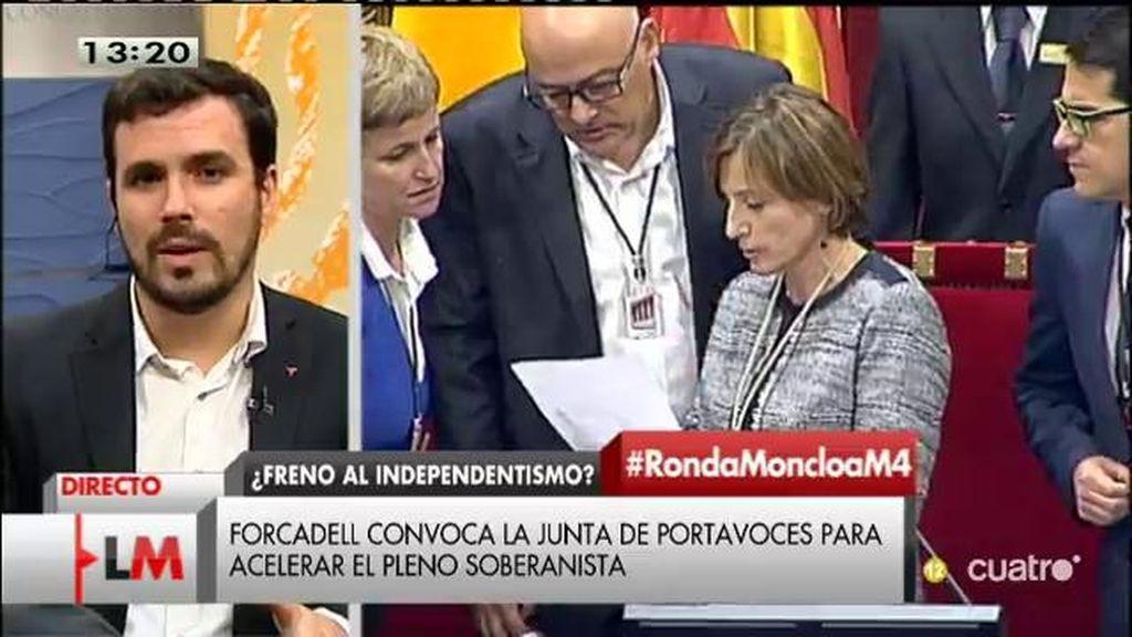"""A. Garzón, candidato IU: """"Merecemos que se piense en las siguientes generaciones en vez de los resultados de diciembre"""""""