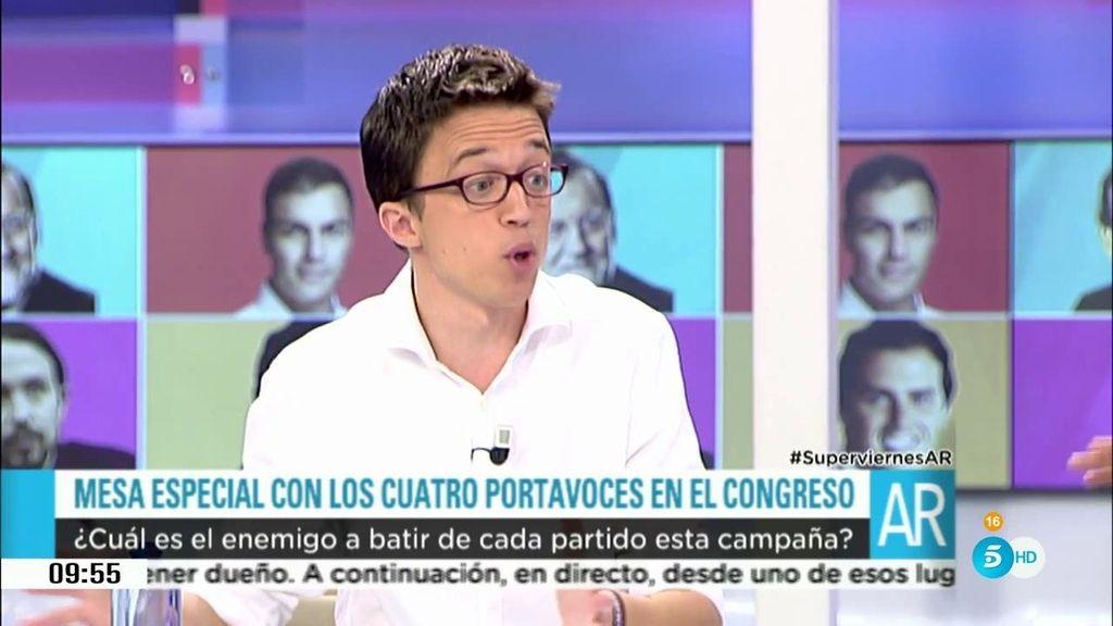 """Íñigo Errejón, a Antonio Hernando: """"Os estáis equivocando de enemigo"""""""