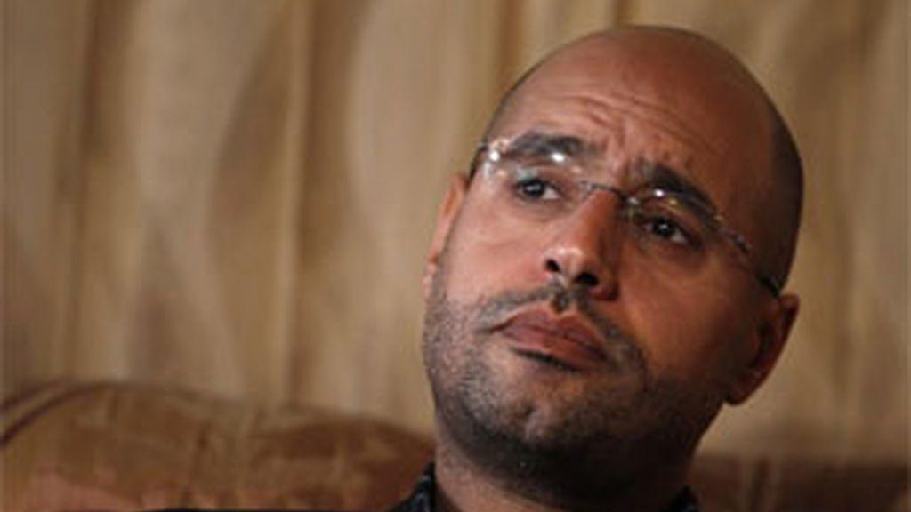 El hijo menor de Gadafi, en una imagen de archivo.