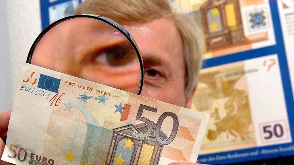 Imagen de un billete de 50 euros. EFE/Archivo