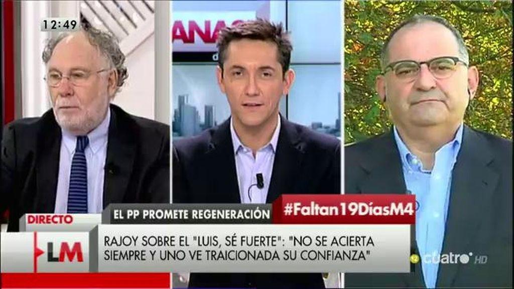 """A. Losada, de Rajoy: """"¿Cómo puede presentarse en un informativo de máxima audiencia y decirnos que no sabía nada?"""""""
