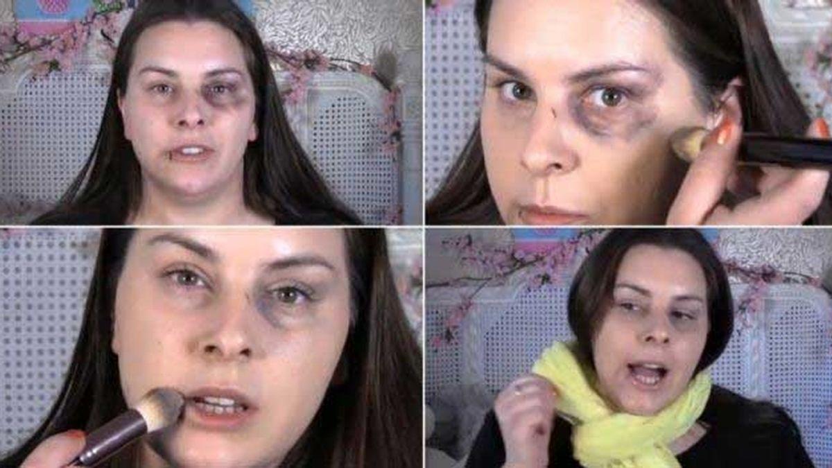 maquillaje, maltratadas, mujeres, palizas, violencia machista,