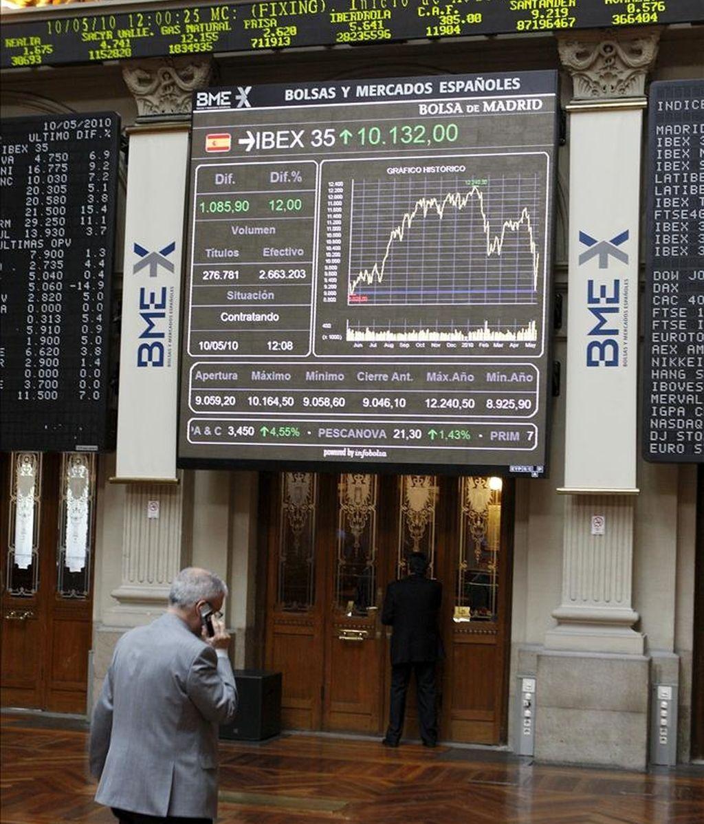 El principal indicador de la bolsa española, el Ibex-35. EFE/Archivo