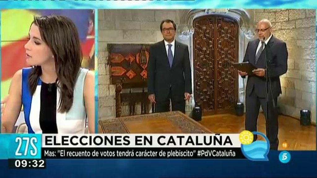 """Arrimadas: """"Rajoy no se siente representante de los catalanes que nos sentimos españoles"""""""