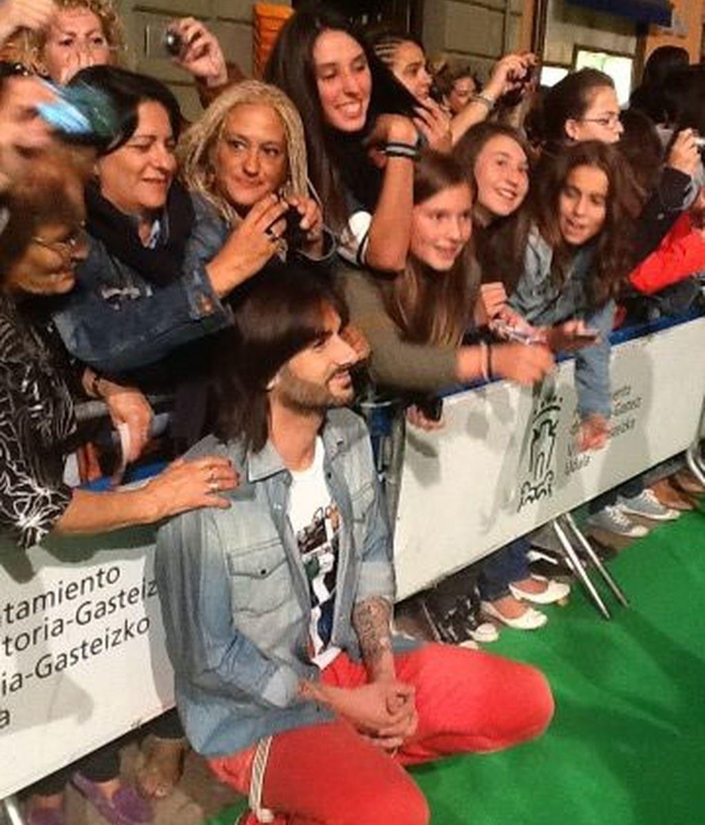La alfombra 'verde', los coaches, el presentador, los fans...