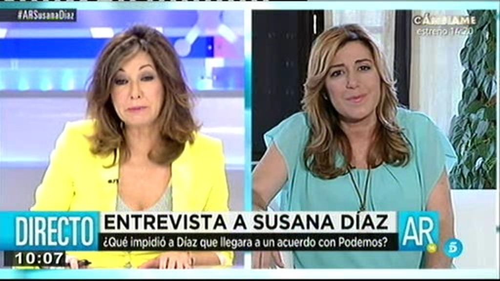 Entrevista con Susana Díaz, a la carta
