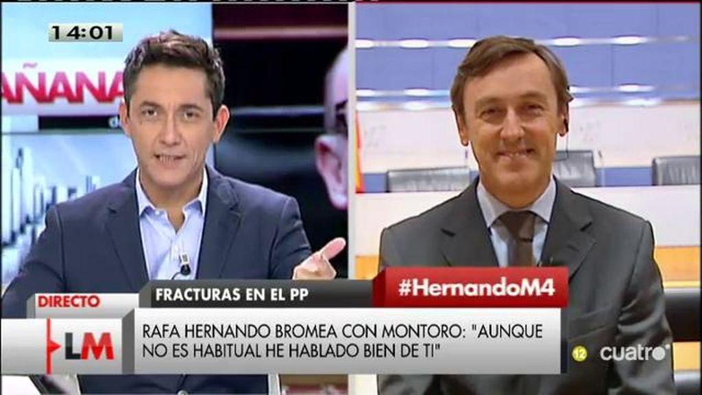 """Rafael Hernando, de Montoro: """"Es uno de los ministros más criticados pero ha sido quien ha permitido cuadrar las cuentas"""""""