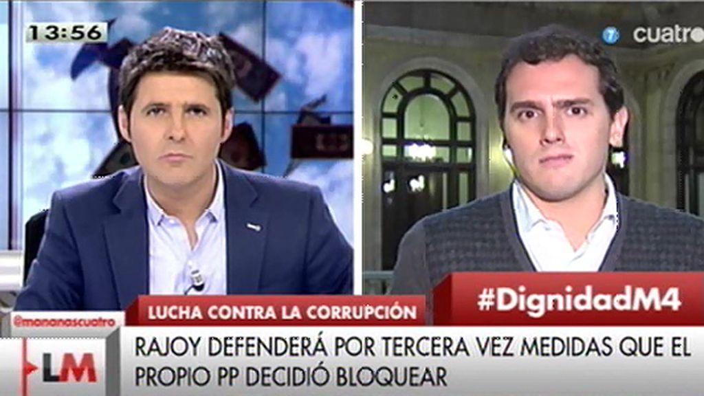 """Albert Rivera: """"Amparan la corrupción en sus partidos y la institucionalizan"""""""