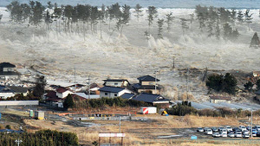 Momento del tsunami de Japón del pasado 11 de marzo. GTRES