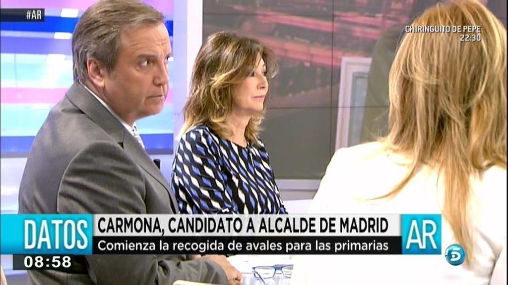 Carmona confirma su candidatura a la Alcadía de Madrid en 'El programa de AR'