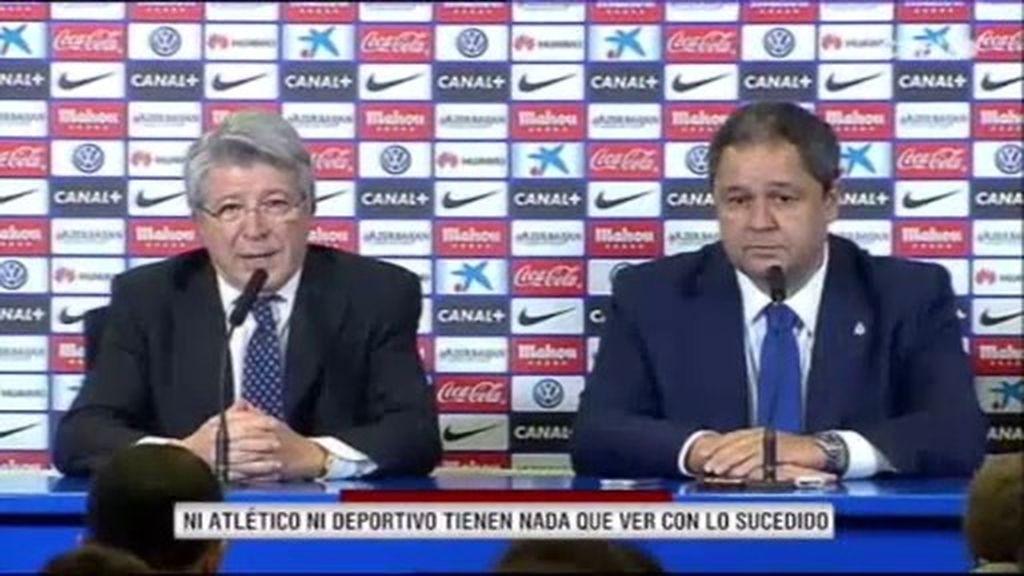 """Cerezo: """"Ni el Atlético ni el Deportivo tenemos nada que ver con estos hechos"""""""