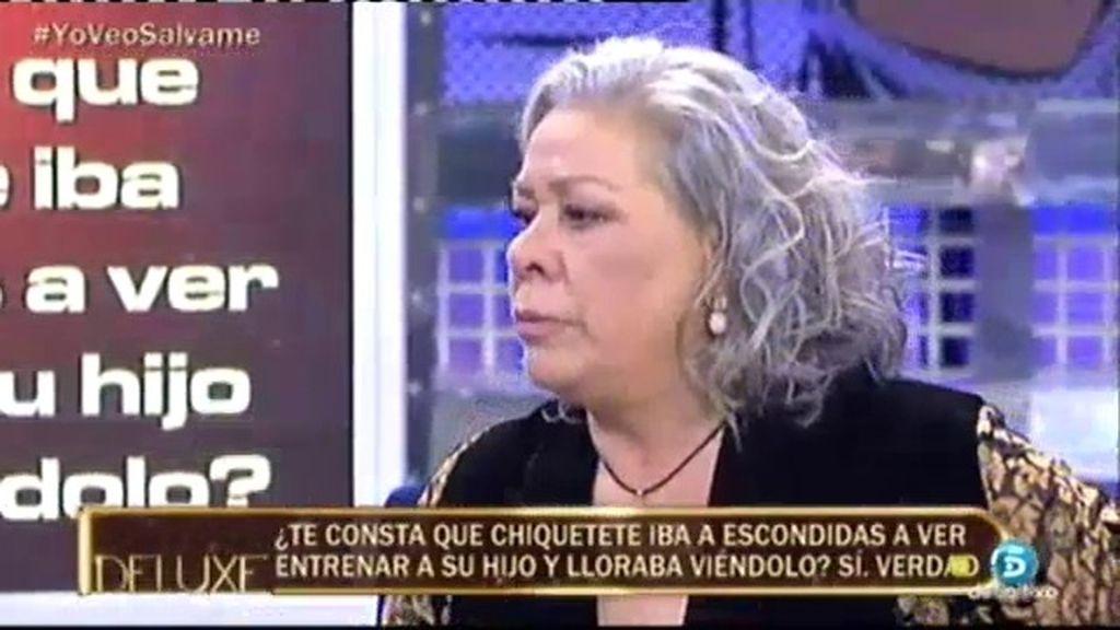 """Carmen Gahona: """"Chiquetete iba a escondidas a ver entrenar a su hijo"""""""