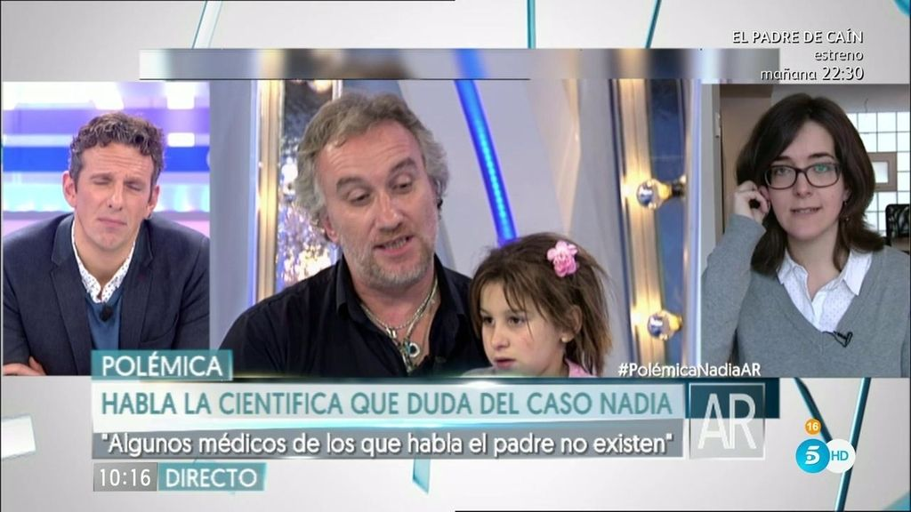 "Ángela Bernardo, periodista: ""La mayor estafada es la propia  Nadia"""