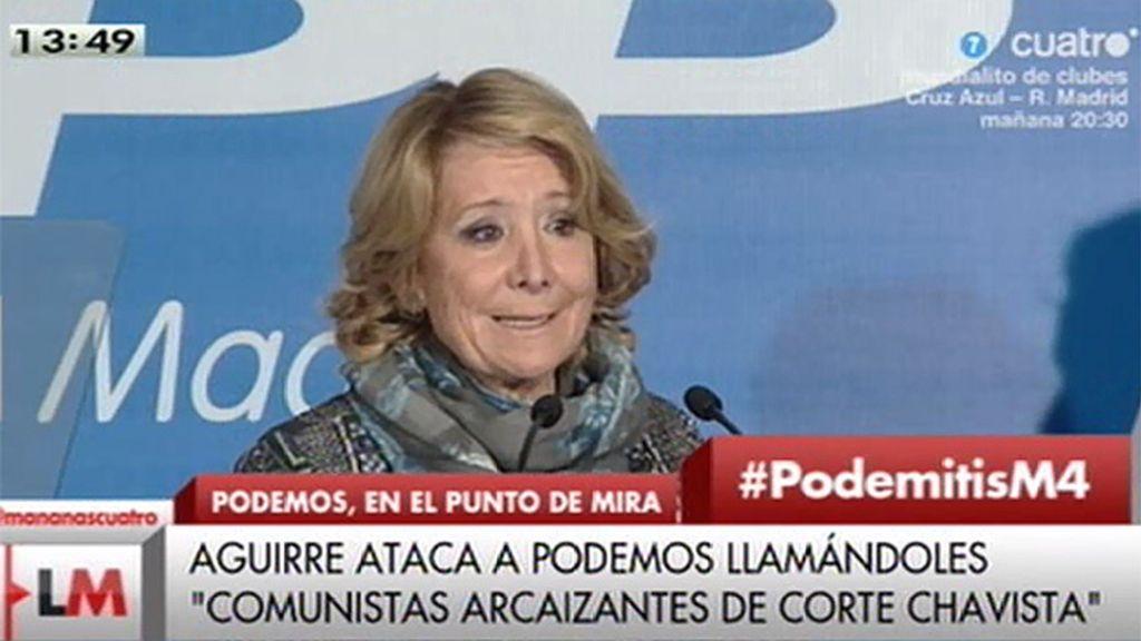 """Esperanza Aguirre: """"Esos comunistas arcaizantes de corte chavista"""""""
