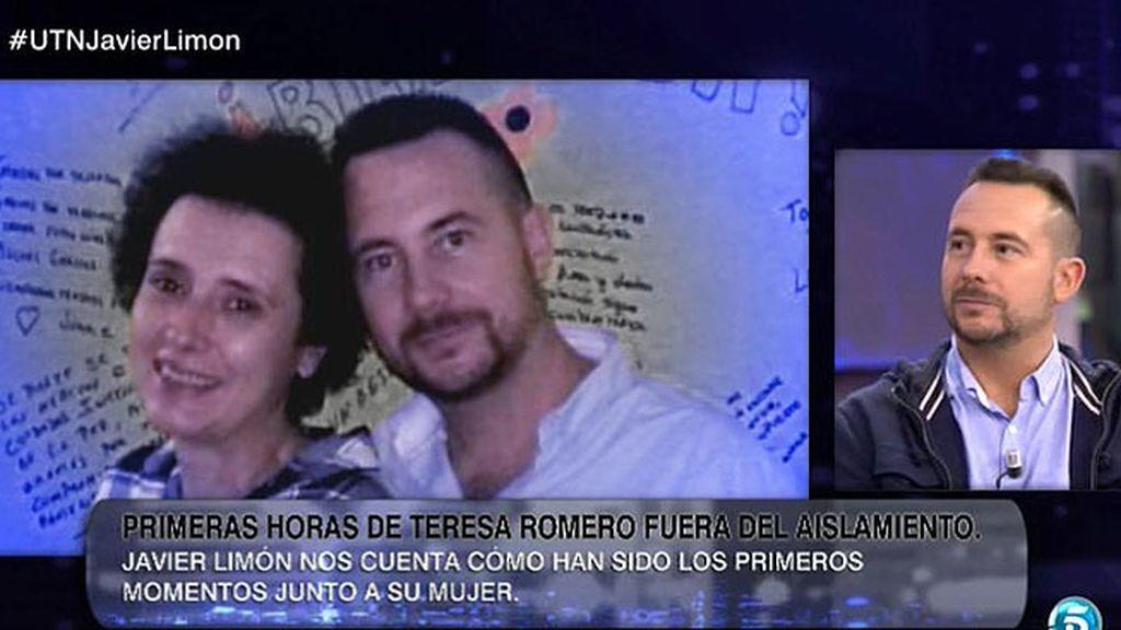 """J. Limón, tras la salida del aislamiento de su mujer: """"Teresa está feliz"""""""