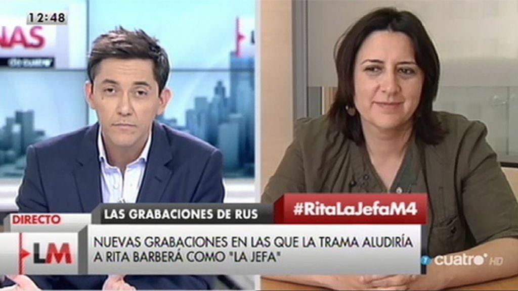 """Rosa Pérez: """"No sólo recopilamos pruebas, también denunciamos políticamente un montón de irregularidades"""""""