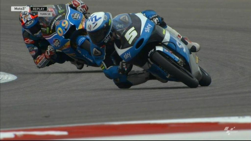 Fenati le gana el pulso a Jorge Navarro y se lleva la victoria de Moto3 en Austin