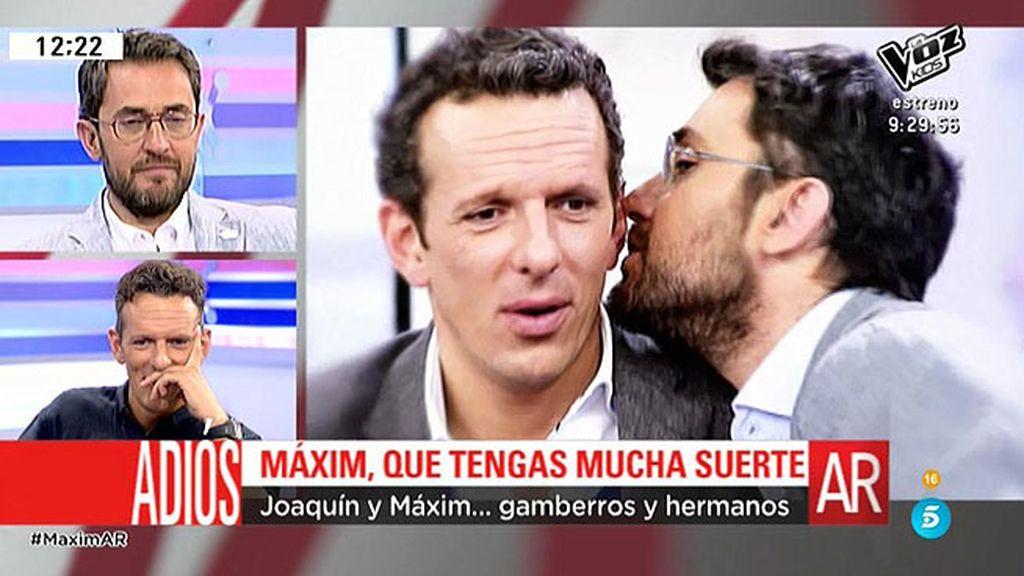 Màxim Huerta y Joaquín Prat, compañeros, amigos y hermanos