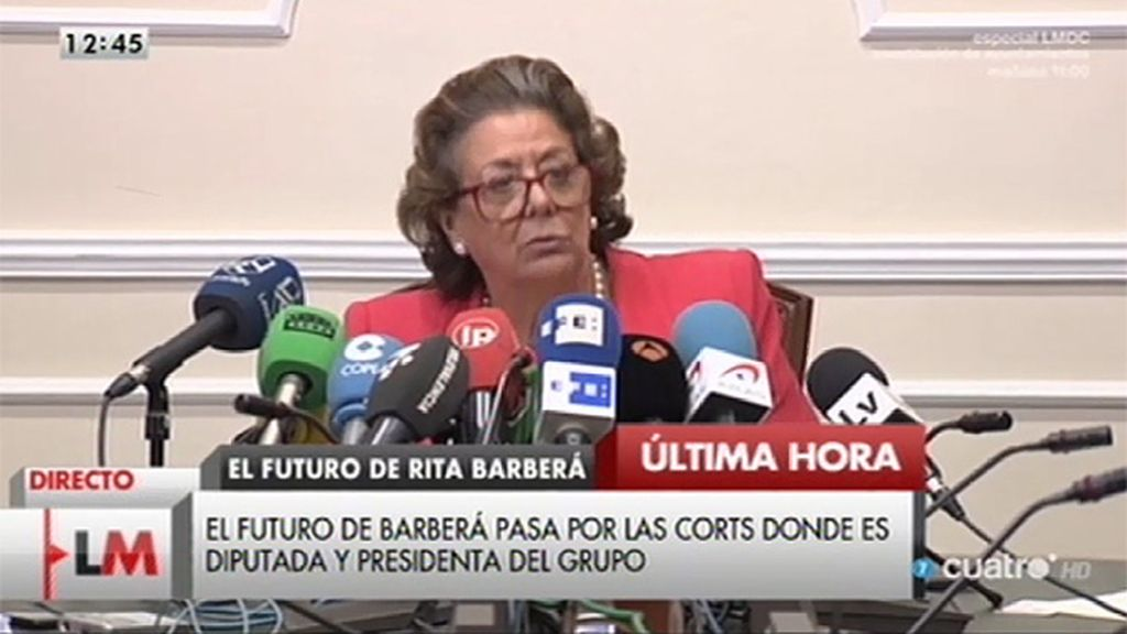 """Rita Barberá: """"Nadie, absolutamente nadie puede quitarme el honor de haber sido alcaldesa de Valencia"""""""