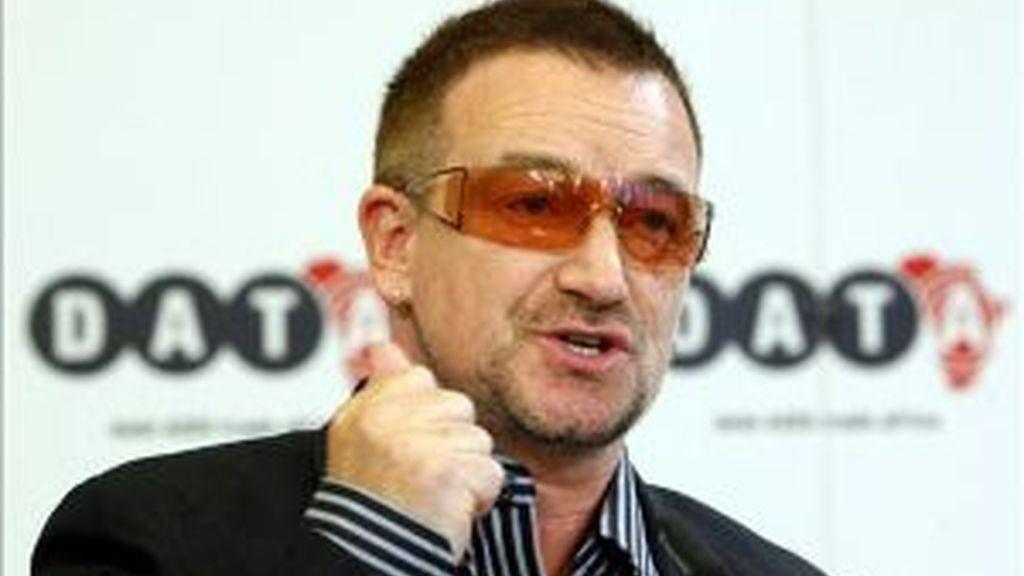 Bono, el líder de U2. Foto: EFE.