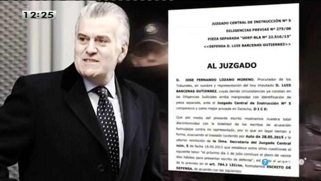 Bárcenas acusa al PP de financiación ilegal en su escrito de defensa