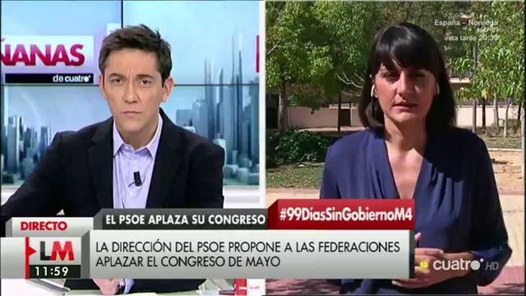"""María González Veracruz: """"Hemos consensuado aplazar el congreso de mayo"""""""
