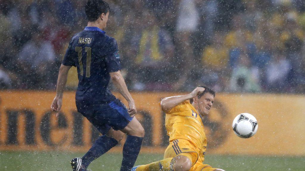 La lluvia, protagonista del Ucrania Francia