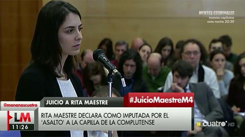 """Rita Maestre: """"Vistas las consecuencias intuyo que nadie volvería a hacer algo así"""""""