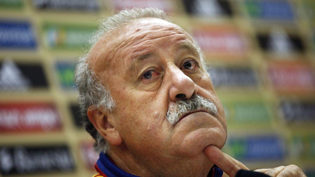 Vicente del Bosque en la rueda de prensa previa al partido ante Francia