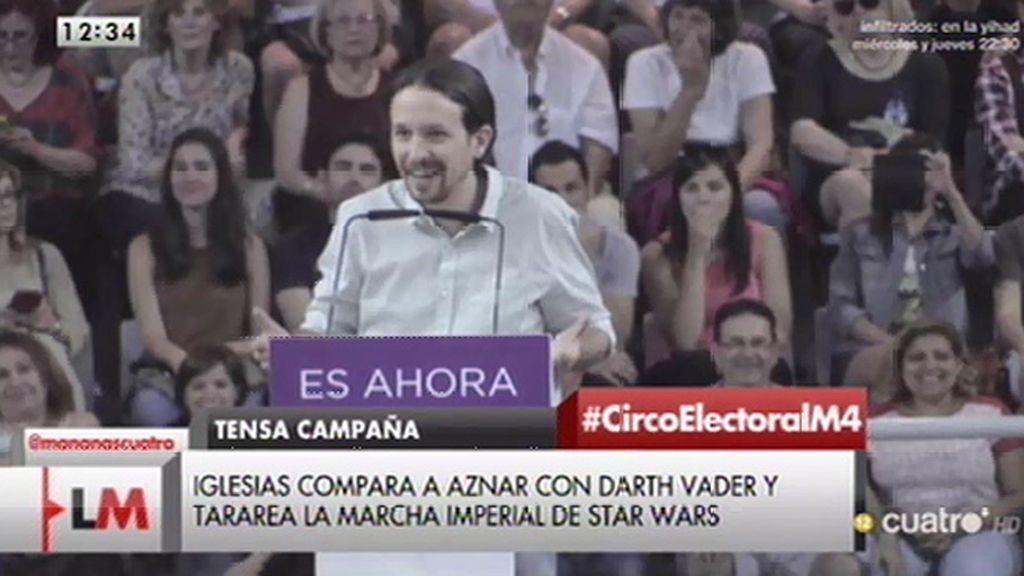 """Pablo Iglesias, de Aznar: """"Pasará a la historia como una caricatura de Darth Vader"""""""