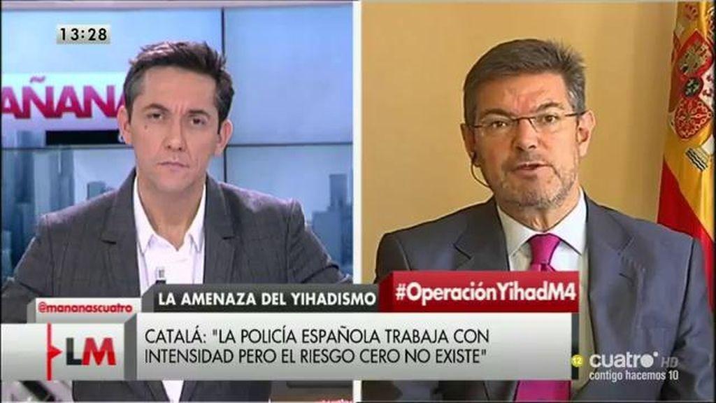 """Catalá: """"Tenemos buenas herramientas en España para prevenir este tipo de atentados"""""""