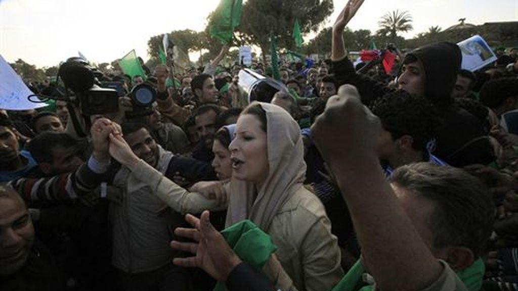 Aisha dio un nieto al dictador libio. Foto: Reuters.