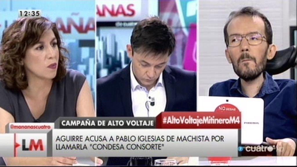 """I. Lozano: """"No creo productivo ni constructivo que los políticos nos estemos insultando"""""""