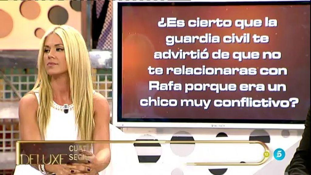 """Angy, sobre Rafa Mateo: """"La Guardia Civil me advirtió de que era un chico conflictivo"""""""