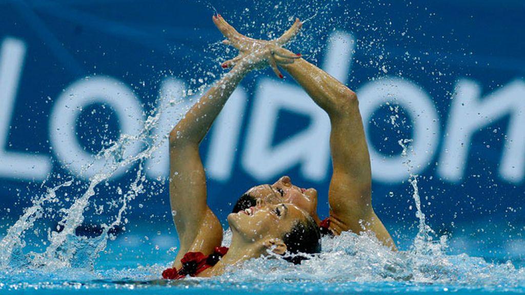 Ona Carbonell y Andrea Fuentes ganan la medalla de plata en natación sincronizada, Londres 2012