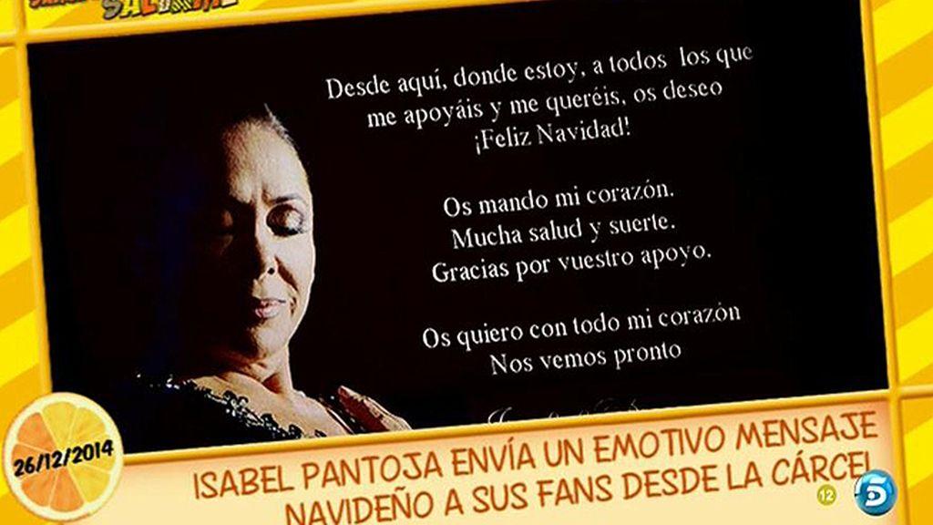 Isabel Pantoja manda un mensaje navideño a sus fans desde la cárcel
