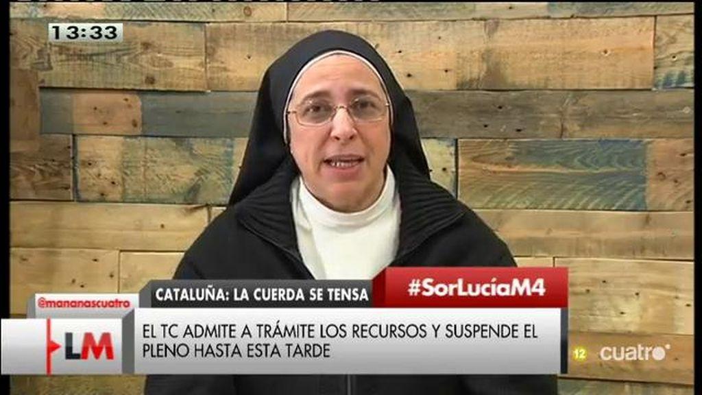 """Sor Lucía Caram: """"La corrupción se ha generalizado porque se ha tolerado durante demasiado tiempo"""""""