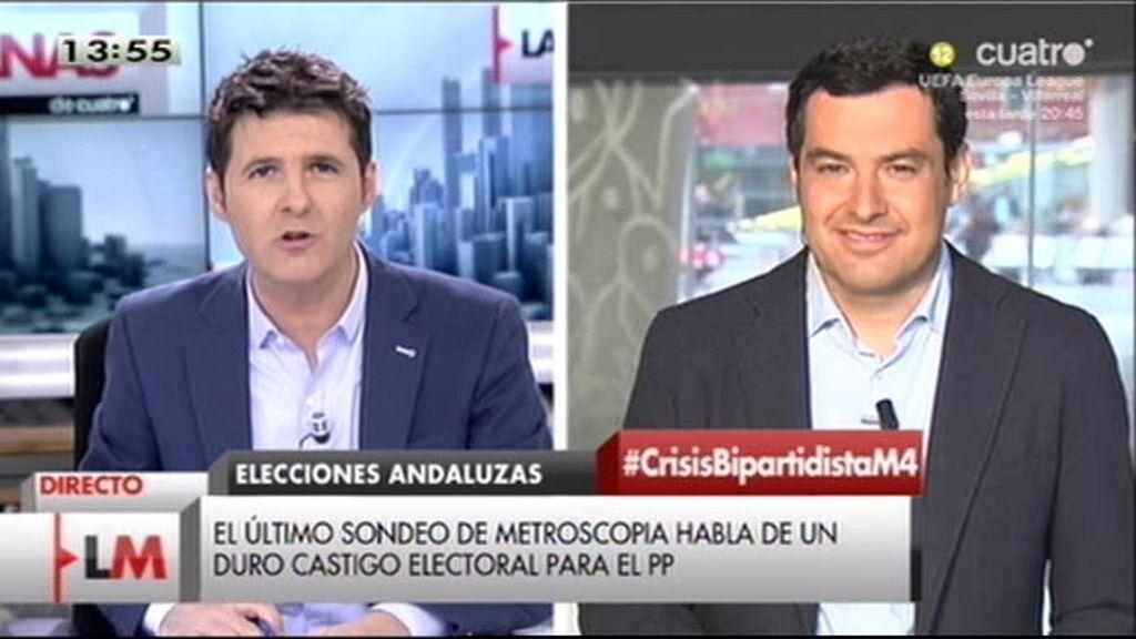 """Moreno Bonilla (PP andaluz):""""Soy partidario de respetar la lista más votada"""""""