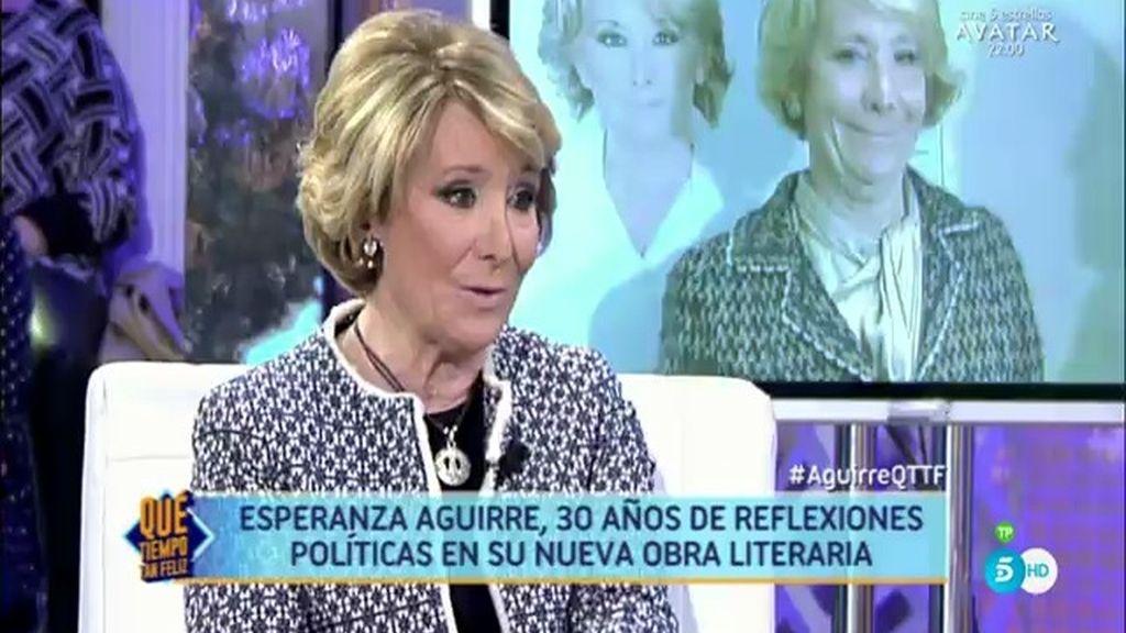 """Esperanza Aguirre: """"Mi libro se iba a llamar 'La regeneración del centro derecha"""""""