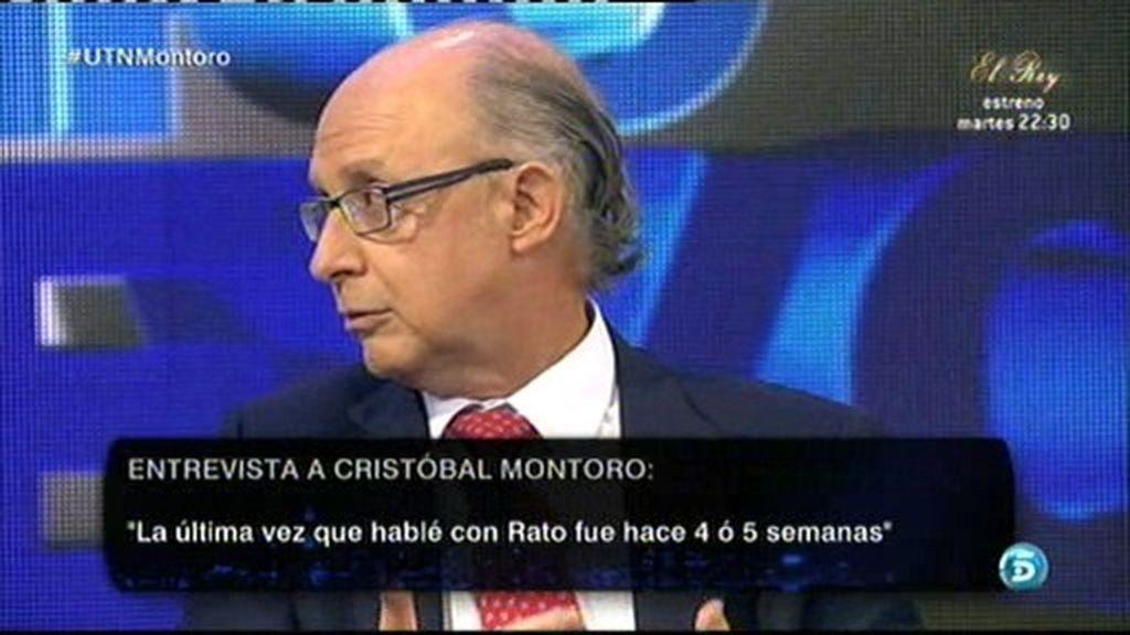 "Cristóbal Montoro: ""Rato me dijo que estaba preocupado por su caso"""