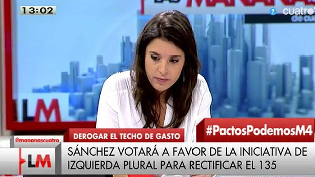 """Irene Montero (Podemos): """"Es muy pronto para hablar de pactos"""""""