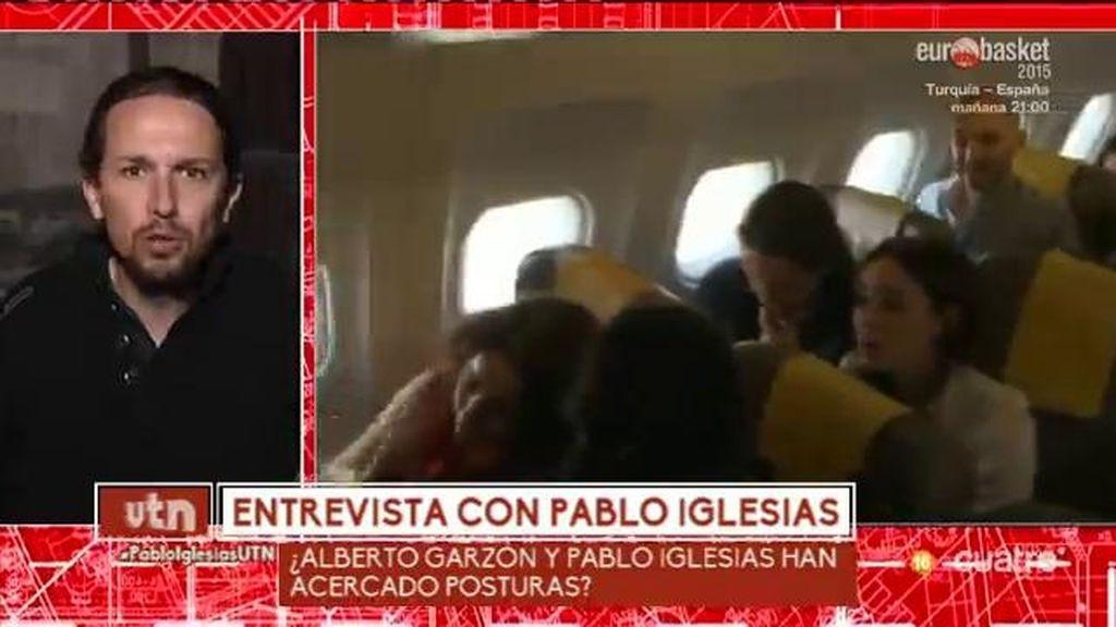 Pablo Iglesias no cierra la puerta a un acuerdo con Alberto Garzón