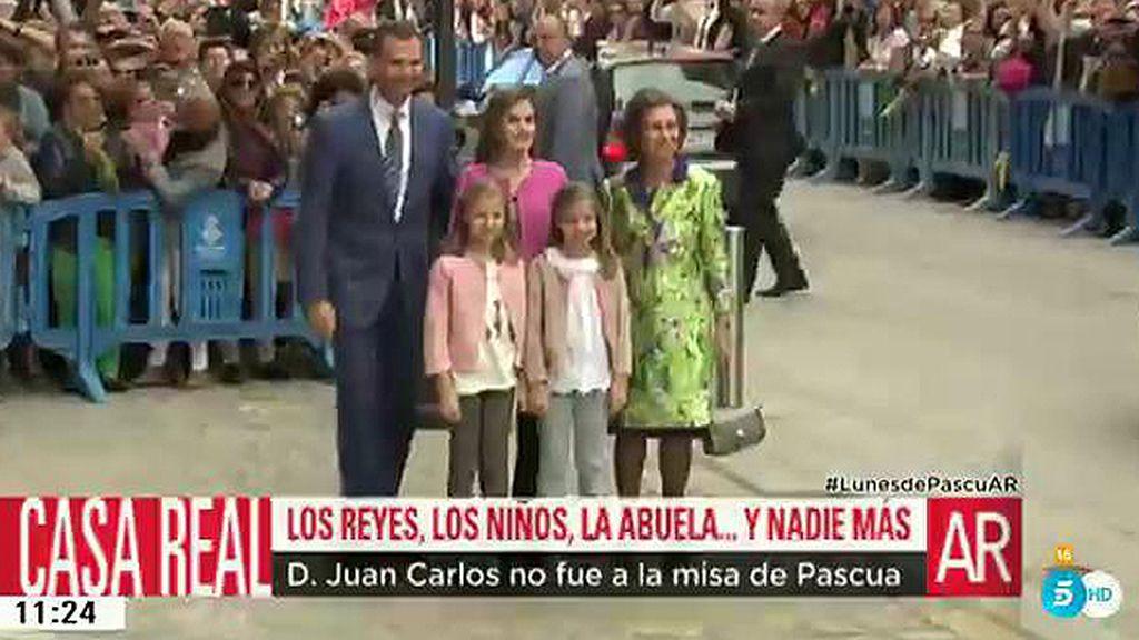 La Familia Real y su posado de Pascua