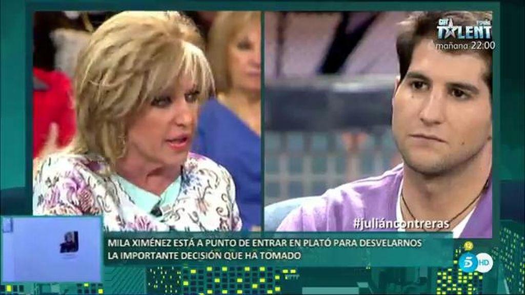"""Lydia Lozano, a Julián Contreras: """"A ti te gusta el sexo telefónico"""""""
