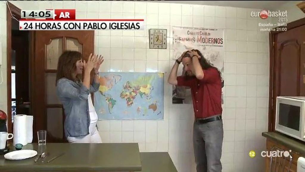 Sprint, desayuno en casa, paseo en moto… Las 24 horas de Pablo Iglesias con Ana Rosa