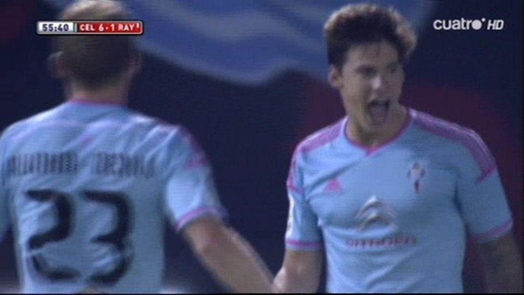 Cuarto gol del partido de Santi Mina (6-1)