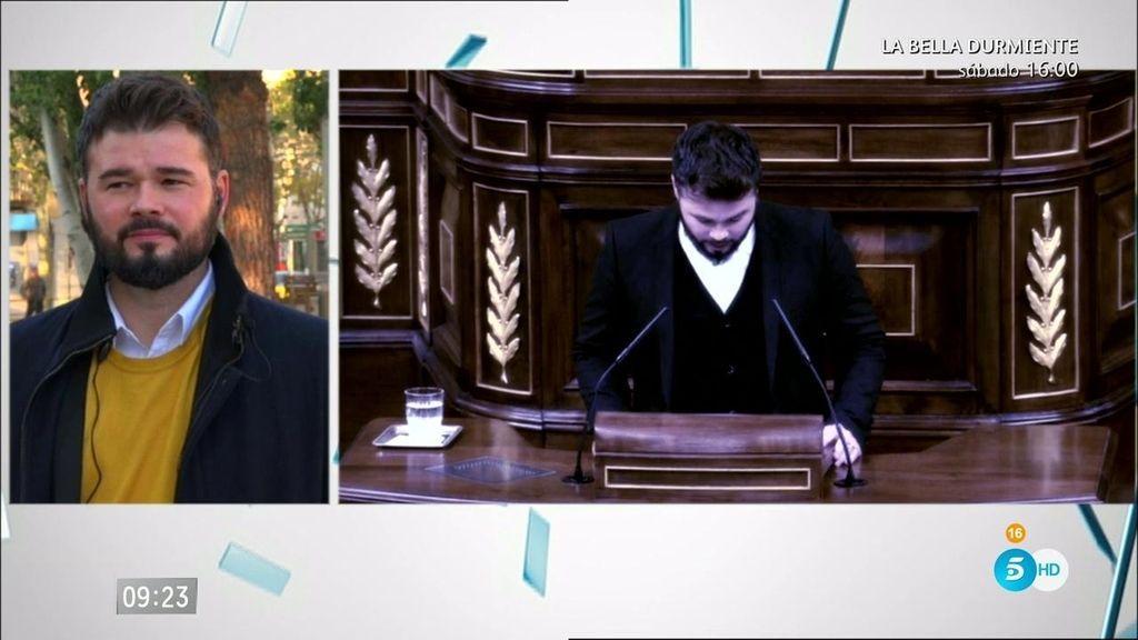 """Rufián, diputado ERC: """"Heredia me dijo: donde las dan las toman"""""""